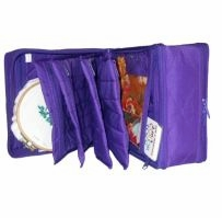 The Double Deluxe Quilted Cotton Organizer 9.5inX9.5inX7.2in Aqua