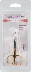 Tooltron Snip A Stitch Scissor 3 1/2in Gold Handle - Click to enlarge