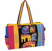 Travel Bag Zipper Top Fantastic Feline Totem