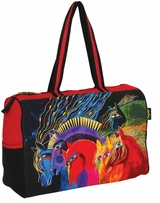 Travel Bag Zipper Top Wild Horses Of Fire