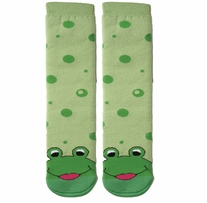 Tubular Novelty Socks Frog Green Bubbles