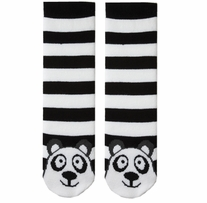 Tubular Novelty Socks Panda Black and White Stripe