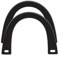 U Shaped Plastic Handles Black 5-3/4in x 4-1/2in
