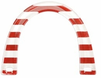 U Shaped Purse Handle Novelty Plastic Red & White Stripes