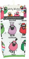 Wacky Woolies Kitchen Towels Set Of Two