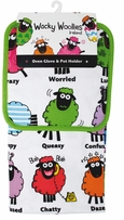 Wacky Woollies Towel, Pot Holder Set