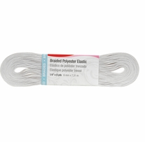Washable Polyester Elastic White 1/4in Wide