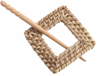 Wicker Shawl Pin Square