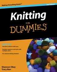 Wiley Publishers Knitting For Dummies 2nd Edition - Click to enlarge