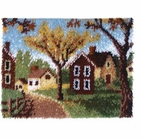 Wonderart Latch Hook Kit Country Cottages 20inx27in