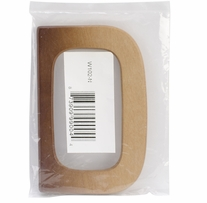 Wood Purse Handle Natural 4-7/8inX3-1/4in 1/pkg