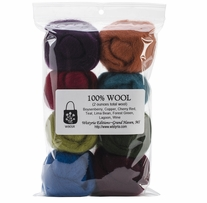 100% Wool Roving 12in The Bouquet