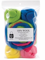 Wool Roving 12 .25oz Beach Balls