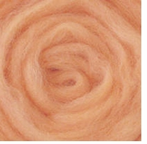 Wool Roving 12in .22 Ounce Apricot