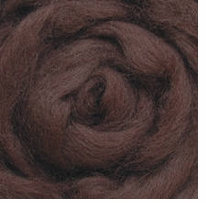 Wool Roving 12in .22 Ounce Chestnut