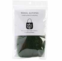 Wool Roving 12in .22 Ounce Forest Green