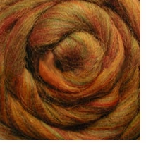 Wool Roving 12in .22 Ounce Sunset Variegated
