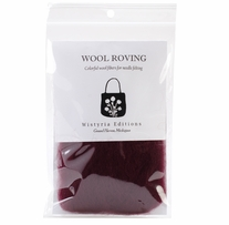 Wool Roving 12in .22 Ounce Wine