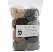 Wool Roving 12in .25oz Rustic 8/Pkg