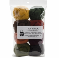 Wool Roving 12in .25oz Timberland 8/Pkg
