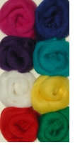 Wool Roving 12in Assortment Primaries