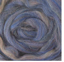 Wool Roving 12in Package .25oz Blue Variegated