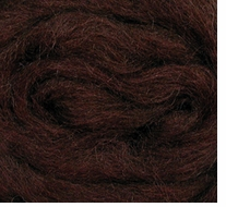 Wool Roving 12in Package .25oz Chocolate