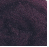 Wool Roving 12in Package .25oz Eggplant