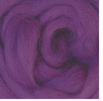 Wool Roving 12in Package .25oz Grape
