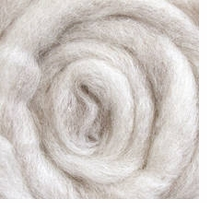 Wool Roving 12in Package .25oz Light Gray