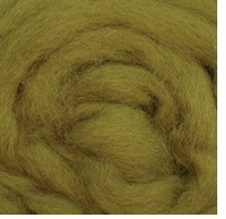 Wool Roving 12in Package .25oz Lima Bean