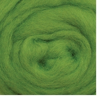 Wool Roving 12in Package .25oz Lime