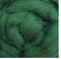 Wool Roving 12in Package .25oz Moss