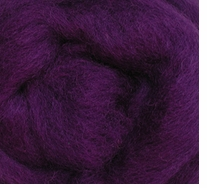 Wool Roving 12in Package .25oz Purple