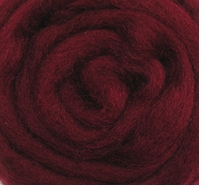 Wool Roving 12in Package .25oz Raspberry