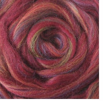 Wool Roving 12in Package .25oz Red Variegated