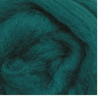 Wool Roving 12in Package .25oz Teal