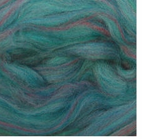 Wool Roving 12in Package .25oz Teal Variegated