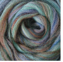 Wool Roving .25oz Blue Green Variegated