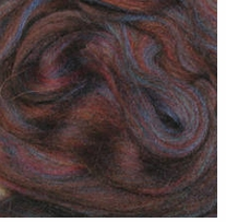 Wool Roving .25oz Mahogany Variegated