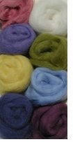 Wool Roving Assortment Pastels
