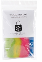 Wool Roving Stripe 12in .25oz Beach Ball Stripe