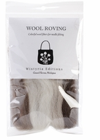 Wool Roving Stripe 12in .25oz Furry Friends Two Stripe