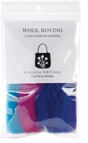 Wool Roving Stripe 12in .25oz Jester Stripe