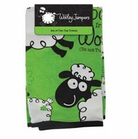 Wooley Jumper Tea Towel 2/Pkg