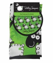 Wooley Jumper Tea Towel And Oven Glove