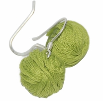 Yarn Ball Earrings Lime 2/Pkg
