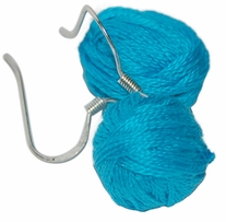 Yarn Ball Earrings Turquoise 2/Pkg