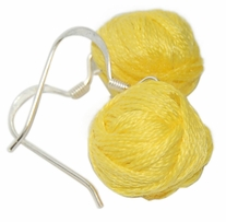 Yarn Ball Earrings Yellow 2/Pkg
