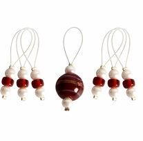 Zooni Stitch Markers with Colored Beads 7/pkg Amaryllis